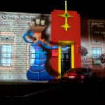 Projection onto the Harbours Board Building, Lipson Street, Port Adelaide