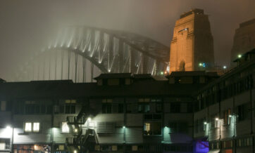 Walsh Bay in the mist... photo by Craig Laurendet