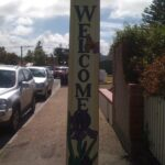 The 'Darker than Black' Crew do feel pretty welcome in Goolwa, and this stobie pole could be a contributing factor.