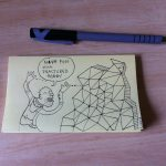 Post-it Note drawing by Luku