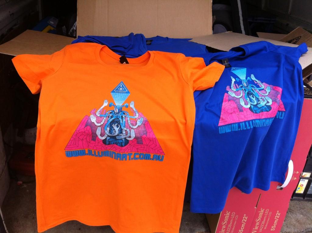 The Illuminarty T-shirt designed by Luku Kukuku