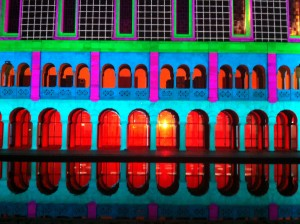 The majestic Winthrop Hall is the centrepiece of the University of Western Australia. The line up image is reflected back into the historic reflection pool.