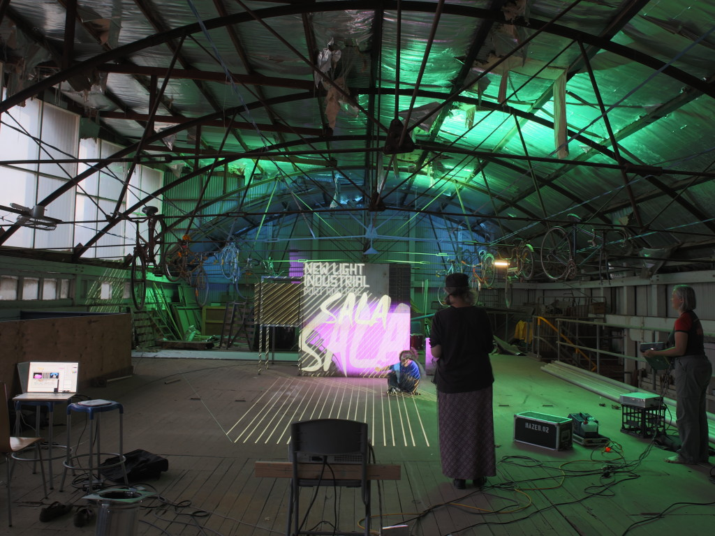 New Light Industrial - Projection at WYS Warehouse