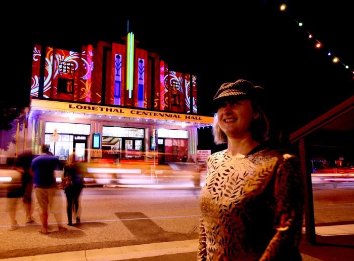 Cindi at Lights of Lobethal 2009
