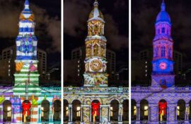 Adelaide City Council Christmas Projection