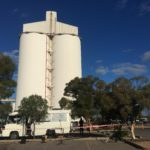 Port Pirie Travelling Light - Moby Bus and the Silo
