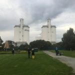 Two Viterra Silos - side by side - dubbed Mr and Mrs by locals.