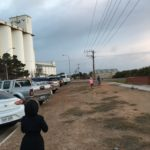 50 Cars at Ceduna awaiting the Silo projection