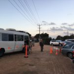 Moby the projection bus at Ceduna