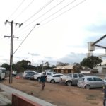 Cars lining up Drive In Style at Ceduna