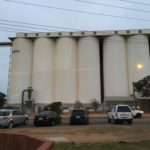 Almost dark enough for projection - Silos at Ceduna
